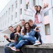 Group of students to complete academic year — Stock Photo #9523046