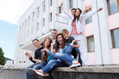 Group of students to complete academic year — Stock Photo