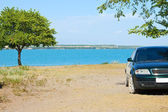 Parking on the beach — Stock Photo