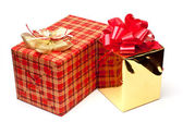 Boxes with gift — Stockfoto