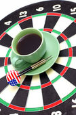 Darts and coffee — Stock Photo
