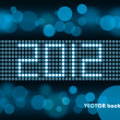 Year 2012 bokeh - Stock Vector