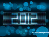 år 2012 bokeh — Stockvektor