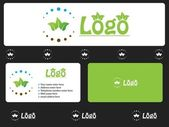 Eco logo design — Stock Vector