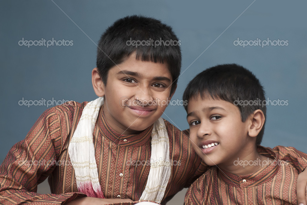 Happy indian brothers — Stock Photo #10380842