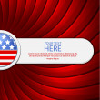 Red background on the theme of July 4th — Stock Vector #10539908