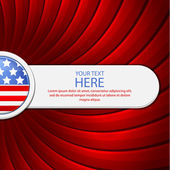Red background on the theme of July 4th — Stock Vector