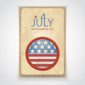 Leaflet by July 4 in style of a retro — Vector de stock