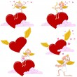 Vector de stock : Cupids Valentine's Day