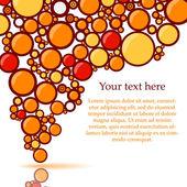 Hintergrund mit farbe blasen. orange — Stockvektor