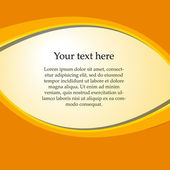 Text on a colored background — Stock Vector