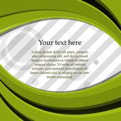 Texto sobre un fondo color — Vector de stock