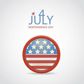 Retro 4 july vector badge — Vector de stock
