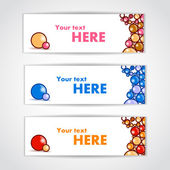 Set of color banners with beautiful balls. Vector illustration — Stock Vector