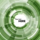 Yeşil renkli bir daire şeklinde — Stok Vektör