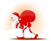 The tired Santa — Stock Vector