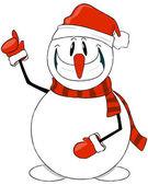 The amusing snowman — Stock Vector