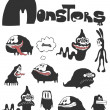 Stock Vector: The set of monsters