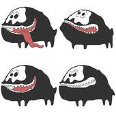 Set of monser dog — Stock Vector