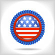 Blue 4 july vector badge. — 图库矢量图片