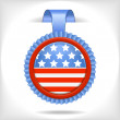 Royalty-Free Stock Imagen vectorial: The 4 july vector  label