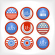 Stock Vector: Set 4 july vector badge.