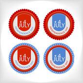 Set 4 july vector badge — Stock Vector