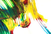 Paints on the white paper — Stock Photo