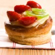 French cake with fresh fruits - Stock Photo