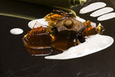 Molekylär gastronomi - svampsoppa — Stockfoto