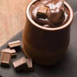 Homemade Chocolate Pudding - Stock Photo