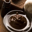 Stock Photo: Chocolate spa with cinnamon