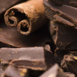 Homemade chocolate with cinnamon - Stockfoto