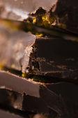 Homemade chocolate with orange — Stock Photo