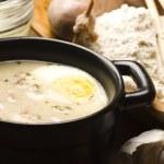 Traditional Polish White Borscht For Easter — Stock Photo