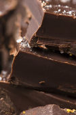 Homemade chocolate with sea salt — Stock Photo