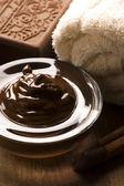 Chocolade spa met kaneel — Stockfoto