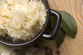 Fresh pickled cabbage - traditional polish sauerkraut — Stock Photo