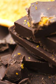 Homemade chocolate with orange — Stockfoto