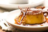 Delicious creme caramel dessert — Stock Photo