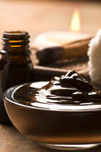 Chocolate spa with cinnamon — Stock Photo