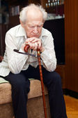Old Man With Cane — Stock Photo