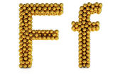 F letter — Stock Photo