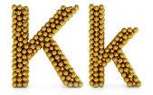 K letter — Stock Photo
