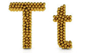 T letter — Stock Photo
