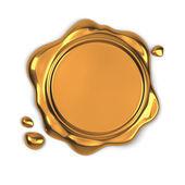 Selo de cera dourada — Foto Stock