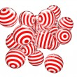 Striped spheres — Stock Photo