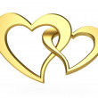 Stock Photo: Golden hearts