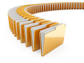 Folder row — Stock Photo