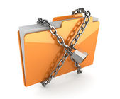 Folder with chain — Stock Photo